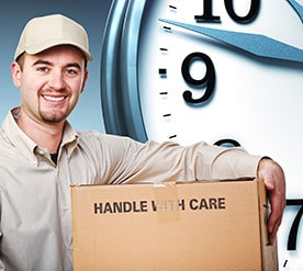 edmonton scheduled delivery courier